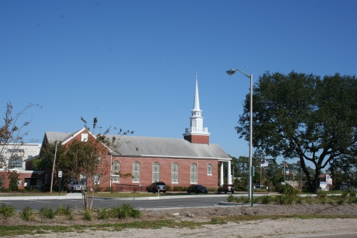 6th Avenue & side view of church